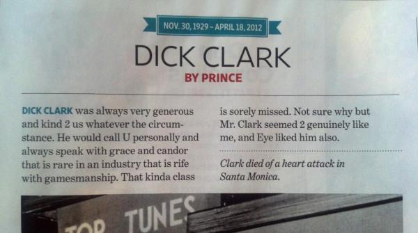 Prince Dick Clark 82