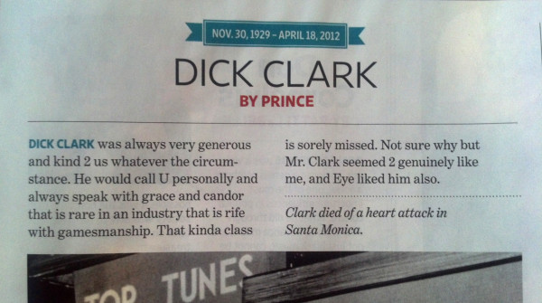 Prince Dick Clark 109