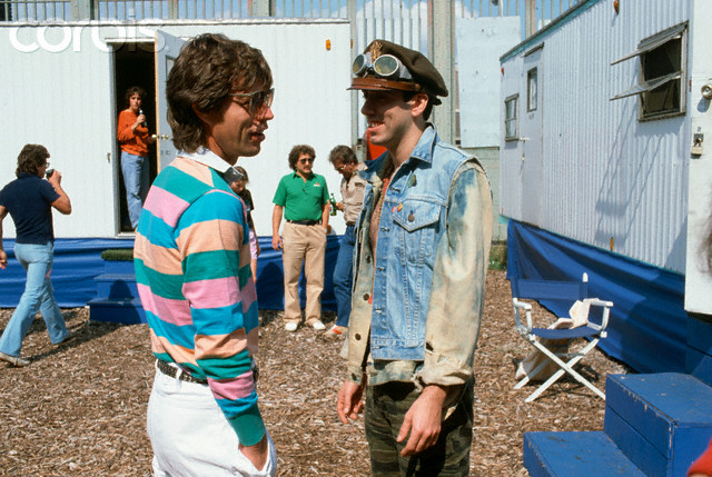 Mick Jagger Talking to Mick Jones