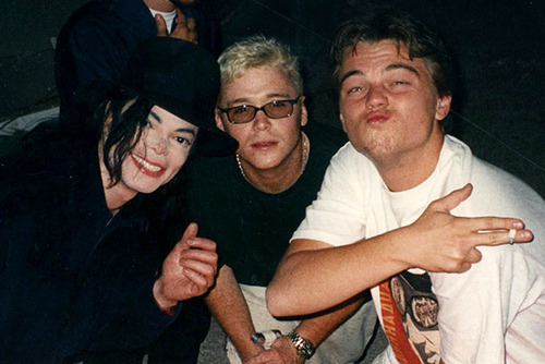 Michael Jackson with Leonardo DiCaprio in 1998 | Sonic ...