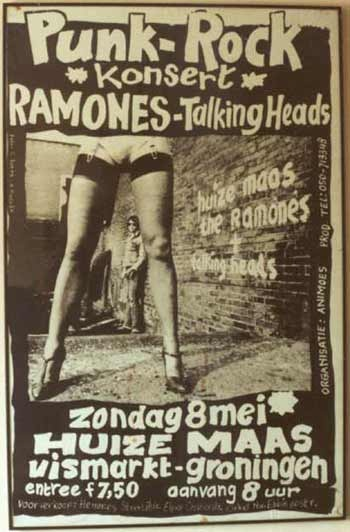 Dutch Concert Flyer For The Ramones Amp The Talking Heads