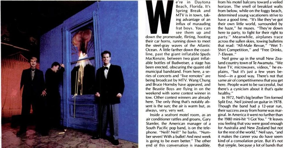 Read a 1987 crowded house article from spin magazine for 1987 house music