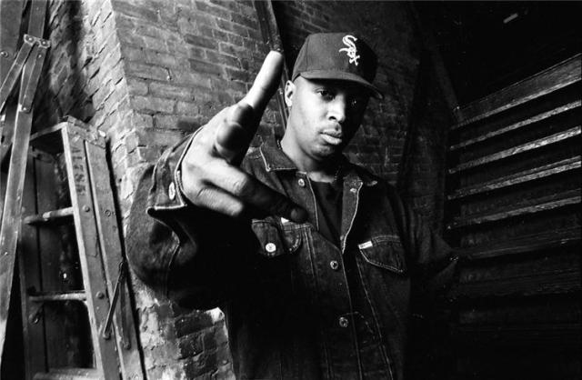 public enemy chuck d pointing finger at lens