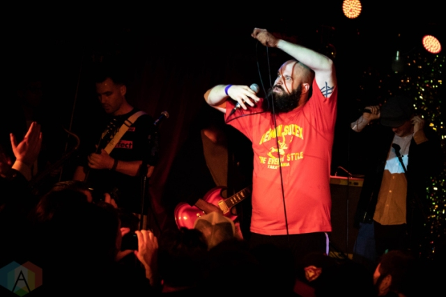TORONTO, ON - OCTOBER 19: Fucked Up performs at Horseshoe Tavern